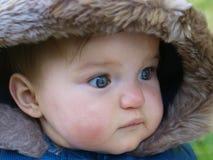 Cara seria del bebé Imagen de archivo libre de regalías