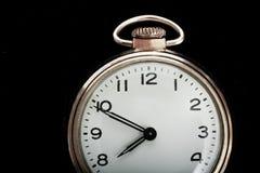 Cara simple del reloj de bolsillo de la vendimia Imagen de archivo libre de regalías