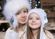 Cara, sombrero blanco, la Navidad, diversión Imagen de archivo