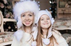 Cara, sombrero blanco, la Navidad, diversión Fotografía de archivo