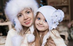Cara, sombrero blanco, la Navidad, diversión Imagenes de archivo