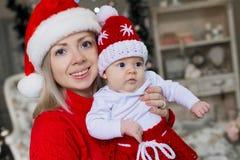 Cara, sombrero de la Navidad, traje rojo, diversión Imagen de archivo