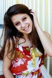 Cara sonriente adolescente Fotos de archivo