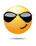 Cara sonriente amarilla Imagenes de archivo