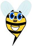 Cara sonriente de la abeja Foto de archivo libre de regalías