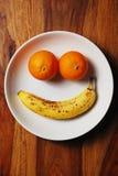 Cara sonriente de la fruta Fotos de archivo