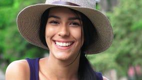 Cara sonriente de la muchacha hermosa Fotos de archivo