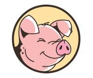 Cara sonriente de un cerdo stock de ilustración