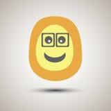 Cara sonriente del emoji creativo con los vidrios Imágenes de archivo libres de regalías
