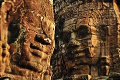Cara sonriente en Angkor Wat Foto de archivo libre de regalías