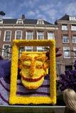 Cara sonriente en el desfile de la flor Fotografía de archivo libre de regalías