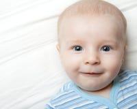 Cara sonriente feliz del bebé Imagen de archivo