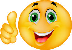 Cara sonriente feliz del Emoticon Foto de archivo