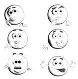 CARA - sonrisas II/III de B&W seises Imagenes de archivo