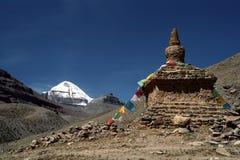 Cara sul de Mount Kailash sagrado Fotos de Stock Royalty Free
