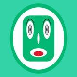 Cara surpreendida, ícone, gráfico, ilustração, projeto Fotografia de Stock Royalty Free