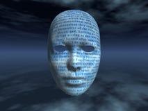 Cara surrealista con el texto ilustración del vector