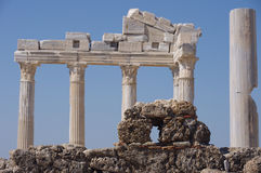 Cara - templo de Apolo Foto de archivo