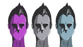 Cara tres sin la boca libre illustration