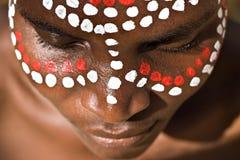Cara tribal Imagen de archivo libre de regalías