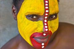 Cara tribal Fotos de archivo