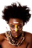 Cara tribal africana de la belleza Foto de archivo libre de regalías