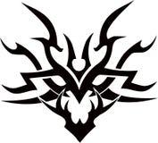 Cara tribal da ilustração do projeto do vetor da tatuagem Foto de Stock