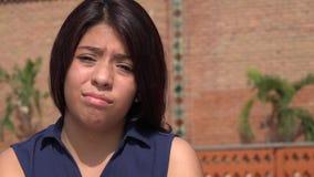 Cara triste de la muchacha adolescente Foto de archivo libre de regalías