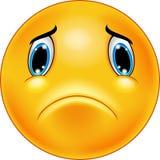Cara triste del emoticon stock de ilustración