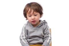 Cara triste del muchacho Imagen de archivo libre de regalías