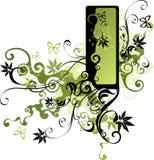 Cara verde de la vid ilustración del vector