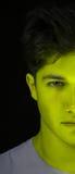 Cara verde del hombre de la piel Fotografía de archivo
