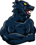 Cara vermelha da mascote do touro Imagens de Stock