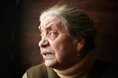 Cara vieja de la abuelita Fotografía de archivo libre de regalías