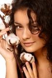 Cara y algodón Imagen de archivo