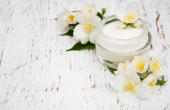 Cara y cremas hidratantes de la crema corporal Fotografía de archivo