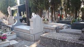 Carabanchel ` s cmentarza, Madryt grób, i nagrobki Obrazy Stock