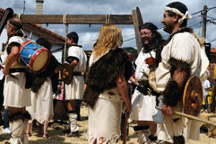 CARABANZO festival. Asturias. SPANJE Royalty-vrije Stock Foto
