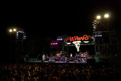 Carabao in concert in Satahip, Thailand Royalty Free Stock Photography