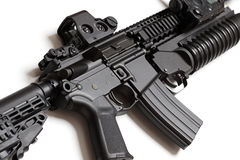 Carabina del asalto del Ejército del EE. UU. con el louncher de la granada Imagen de archivo libre de regalías