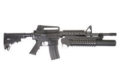 Carabina M4A1 fornita di lanciagranate M203 Immagini Stock