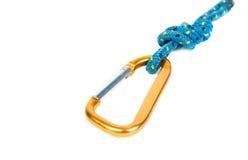 Carabine à l'extrémité de la corde. Image libre de droits