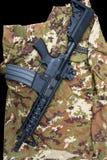 Carabine on uniform Stock Photography