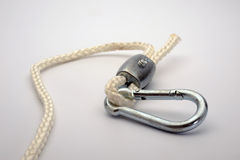 Carabiner And Rope Royalty Free Stock Photo