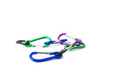 Carabiner on isolated Royalty Free Stock Photography