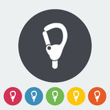 Carabiner. Icon. Flat vector related icon for web and mobile applications. It can be used as - logo, pictogram, icon, infographic element. Vector Illustration stock illustration