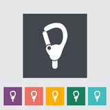 Carabiner. Icon. Flat vector related icon for web and mobile applications. It can be used as - logo, pictogram, icon, infographic element. Vector Illustration royalty free illustration