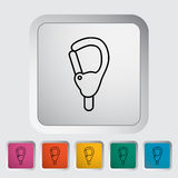 Carabiner. Icon. Line flat vector related icon for web and mobile applications. It can be used as - pictogram, icon, infographic element. Vector Illustration royalty free illustration