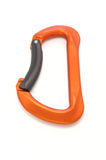 Carabiner lock. Climber carabiner on white background Royalty Free Stock Image