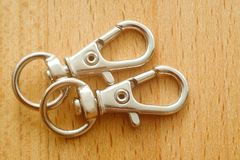 Carabiner para chaves Porta-chaves com anel foto de stock royalty free